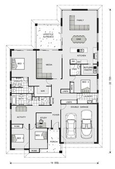Hawkesbury our designs, new south wales builder, gj gardner homes new Dream House Plans, Modern House Plans, My Dream Home, Garage Floor Plans, House Floor Plans, Design Tropical, Floor Plan Layout, Orange House, Plan Design