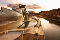Guggenheim Museum Bilbao has been compared to a ship, a meteorite, a spaceship from Alpha Centauri, a large soufflé and a metallic piece of cauliflower
