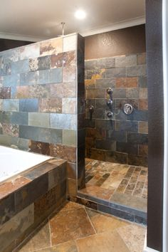 30 Popular Bathroom Shower Tile Design Ideas And Makeover. If you are looking for Bathroom Shower Tile Design Ideas And Makeover, You come to the right place. Below are the Bathroom Shower Tile Desig. House Bathroom, Master Bathroom Shower, Bathroom Remodel Master, Showers Without Doors, Stone Shower, Modern Bathroom, Bathroom Shower, Bathroom Design, Shower Tile Designs