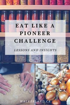 Have you ever wondered what it would be like to eat like a pioneer, back when people were more self reliant and worked hard to produce what they ate? Have you wondered how hard it would really be to achieve this goal? As homesteaders and gardeners, we de Survival Food, Homestead Survival, Emergency Preparedness, Survival Skills, Survival Videos, Bushcraft Skills, Survival Stuff, Pioneer Life, Pioneer House