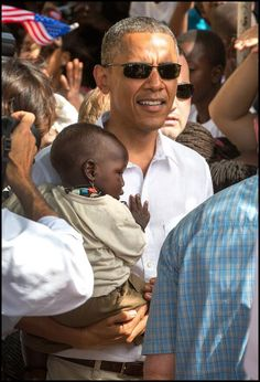 President Obama in Senegal to, among other things, reinforce the U.S. commitment to invest in the next generation of African leaders...the children. (2013)