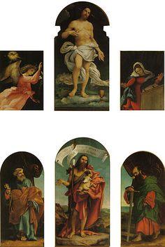 Lorenzo Lotto - Polittico di Ponteranica - olio su tavola - 1522 - Chiesa dei Santi Vincenzo e Alessandro a Ponteranica (provincia di Bergamo).