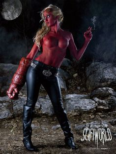 Hellboy (bodypainting)