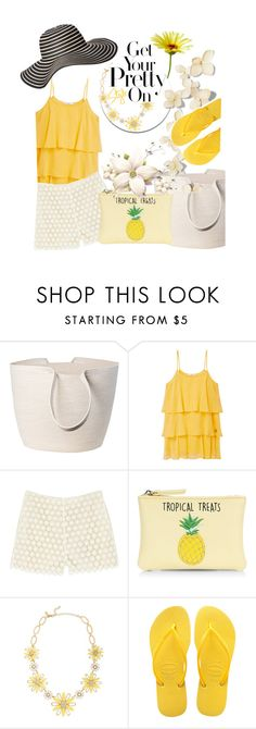 """My Summer day"" by mariahedanne ❤ liked on Polyvore featuring Doug Johnston, MANGO, Paul & Joe Sister, New Look, Kate Spade, Havaianas and Old Navy"