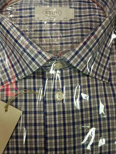 NWT$295  ETON  OF SWEDEN  Premium beautiful luxury shirt  16.5/42 slim fit #Eton