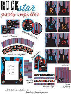 printables rock party - Pesquisa Google