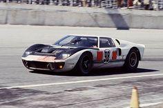 Daytona 24 Hours, 1966. Ken Miles and Lloyd Ruby's winning Ford GT40 Mk. II.: