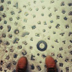 alphabet pavement