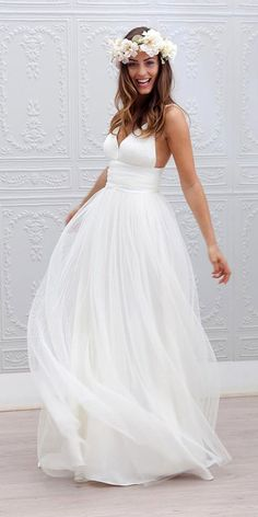 Iris - Marie laporte Summer Beach Wedding Bridal Gowns 2016 Marie Laporte Iris Deep V-Neck Backless A-Line LayeRed Tulle Court Train Wedding Dresses Spaghetti Strap Wedding Dress, Wedding Dresses With Straps, Wedding Dress Chiffon, Wedding Dresses 2018, Cheap Wedding Dress, Spaghetti Straps, Dresses 2016, Backless Wedding, Empire Wedding Dresses