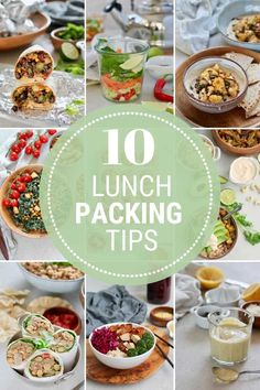 10 Lunch Packing Tips, hacks, and ideas to help you get your lunch packing game on track! Learn how to make a plan, what equipment you need, and other strategies for delicious and healthy lunches for work or school. Tasty Vegetarian Recipes, Lunch Recipes, Healthy Recipes, Healthy Lunches For Work, Vegan Main Dishes, Meal Prep Bowls, Batch Cooking, Food Prep, Packing Tips