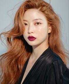 Bora Lim, Red Brown Hair, Korean Face, Pretty Girls, Ulzzang, Aurora, Bae, Solar, Hair Makeup