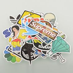 {Factory Direct Sale} (Pack of 100) Stickers Skateboard Snowboard Vintage Vinyl Sticker Graffiti Laptop Luggage Car Bike Bicycle Decals mix Lot Fashion Cool FDS http://www.amazon.com/dp/B00UKZD3RM/ref=cm_sw_r_pi_dp_wsZAvb04XEQ2B