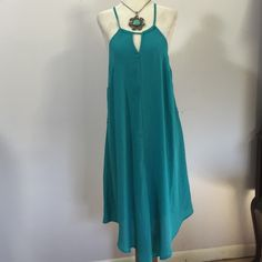 Mossimo Turqoise Handkerchief Dress- Sm. NWT Light& lovely! Fully lined- 100% polyester. Brand new! Mossimo Supply Co Dresses Asymmetrical