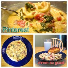 DELICIOUS!!  Hubby doesn't like pasta or spinach but LOVED this.  Sausage tortellini crockpot meal