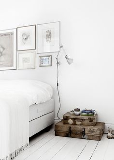 Line Thit Klein | Art House bedroom styling suitcases barefootstyling.com