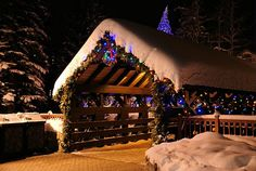 Covered bridge over Gore Creek in Vail, Colorado. When I see this, I know I'm only 5 min from the Red Lion!