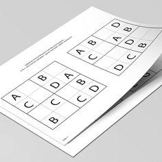 Introducér Sudoku for dine børn, med disse 12 opgaver, hvor de manglende elementer skal tegnes ind.  Sværhedsgraden øges efterhånden som opgaverne løses i den rigtige rækkefølge. Printer, Personal Care, Self Care, Printers, Personal Hygiene