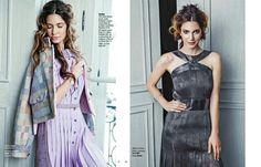 Gloria Glam magazine Simona Antonovic make-up / Bronze purple smokeyeye