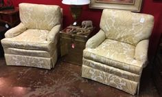 His And Her Living Room Chairs Combine Classic Style And Superb Comfort.  Custom Made.