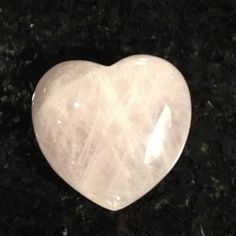 Very fitting. A rose quartz in the shape of a heart. Rose quartz is a nurturing, loving crystal & represents your heart chakra.