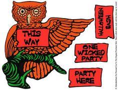 Halloween Owl Sign