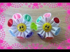 т своими руками /Канзаши/ Ribbon Flower Tutorial / DIY - YouTube