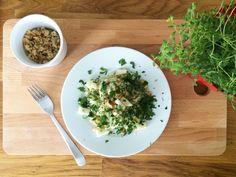 risotto z gruszka i pietruszka