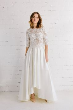HIGH LOW WEDDING SKIRT - LILY