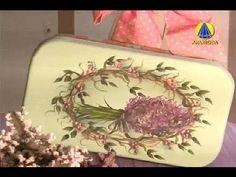 Tudo Artesanal | Pintura Gestual de Lavanda em Marmita por Diná Rocha - 03 de Novembro de 2012 - YouTube
