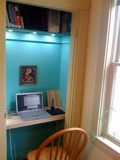 a small space saver one. goal visual. academic book display. ceiling lights. put a comfy chair. nice paint colour. and window on side