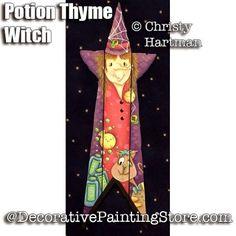Potion Thyme Witch Picket e-Pattern - Christy Hartman - PDF DOWNLOAD