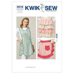 Kwik Sew Ladies Sewing Pattern 3518 - Aprons (O/S) Kwik Sew https://www.amazon.co.uk/dp/B00CEHJ1JI/ref=cm_sw_r_pi_dp_x_nr2CybKPCXB7K
