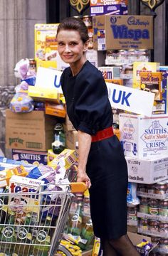 Audrey Hepburn photographed by Mauro Carraro in London, for a campaign for UNICEF, on May 07, 1989