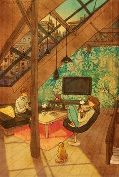 50 иллюстраций о любви в мелочах