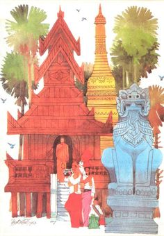 A visit to the monastery by Paw Oo Thet.