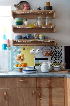 "This cheerful kitchen is from our feature ""Crafty Christmas"""