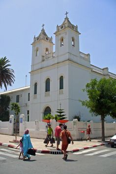 """Christian church in Morocco, Asilah www.feetupmagazine.com """"Put your feet up and let us do the legwork."""""""