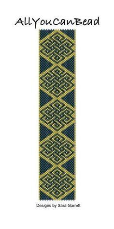 Peyote Bracelet Pattern 470 Bead Weaving INSTANT от AllYouCanBead