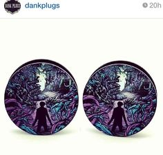 A Day to Remember plugs. I need these, right now. They match my tattoo that I'm going to be getting soon ;3