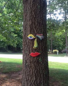 Picasso Tree Face - Garden Art Yard or Fence Art for Fathers Day -  In Stock