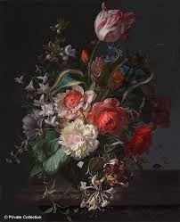 rachel ruysch flower paintiings - Αναζήτηση Google Sip N Paint, Fruit Picture, Dutch Golden Age, Different Seasons, Painting Studio, Chelsea Flower Show, Vanitas, Different Flowers, Flower Vases