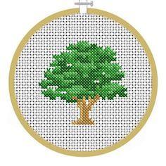 Oak Tree - PDF Cross Stitch Patterns - Instant Download