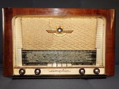 ANCIENNE RADIO TSF AMPLIX A RESTAURER OU POUR PIECES  DECO RETRO COLLECTION