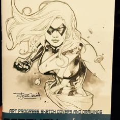 Ms. Marvel by Stephen Segovia  #sketch from #asiapopcomiconmanila #asiapopcomicon  #msmarvel  #marvel