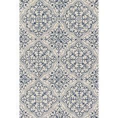Loloi Rugs Francesca Blue & White Floral Area Rug & Reviews | Wayfair