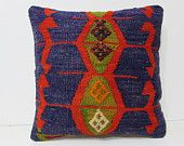 """interior designing 18"""" boho pillow cover hand embroidered pillow case primitive pillow extra large cushion decorative sofa pillow case 28025"""