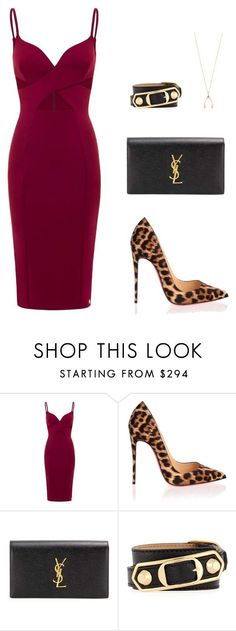 """Untitled #436"" by nadiralorencia on Polyvore featuring Aloura London, Christian Louboutin, Yves Saint Laurent, Balenciaga and Jennifer Meyer Jewelry"