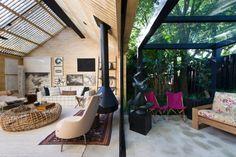 Mostra Black #gazebo Exterior, Gazebo, Loft, Patio, Interior Design, Outdoor Decor, Dining Room, Home Decor, Interior Decorating