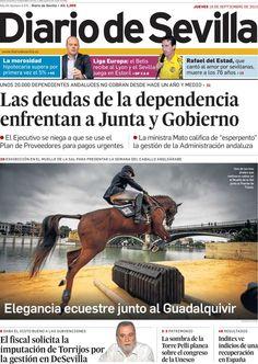Los Titulares y Portadas de Noticias Destacadas Españolas del 19 de Septiembre de 2013 del Diario de Sevilla ¿Que le pareció esta Portada de este Diario Español?