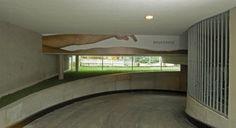 Garagenabfahrt #architecture #screen #wayfinding #signaging Architekt: ludin*plank*penz, Foto: Gerda Eichholzer Plank, Pictures, Floor Layout, Architecture, Planks